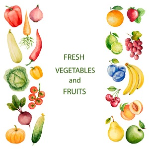 fresh nootropic fruits and vegetables