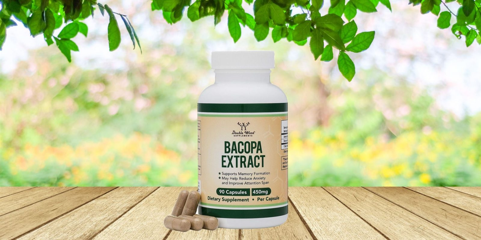 Double Wood Supplements Bacopa Monnieri