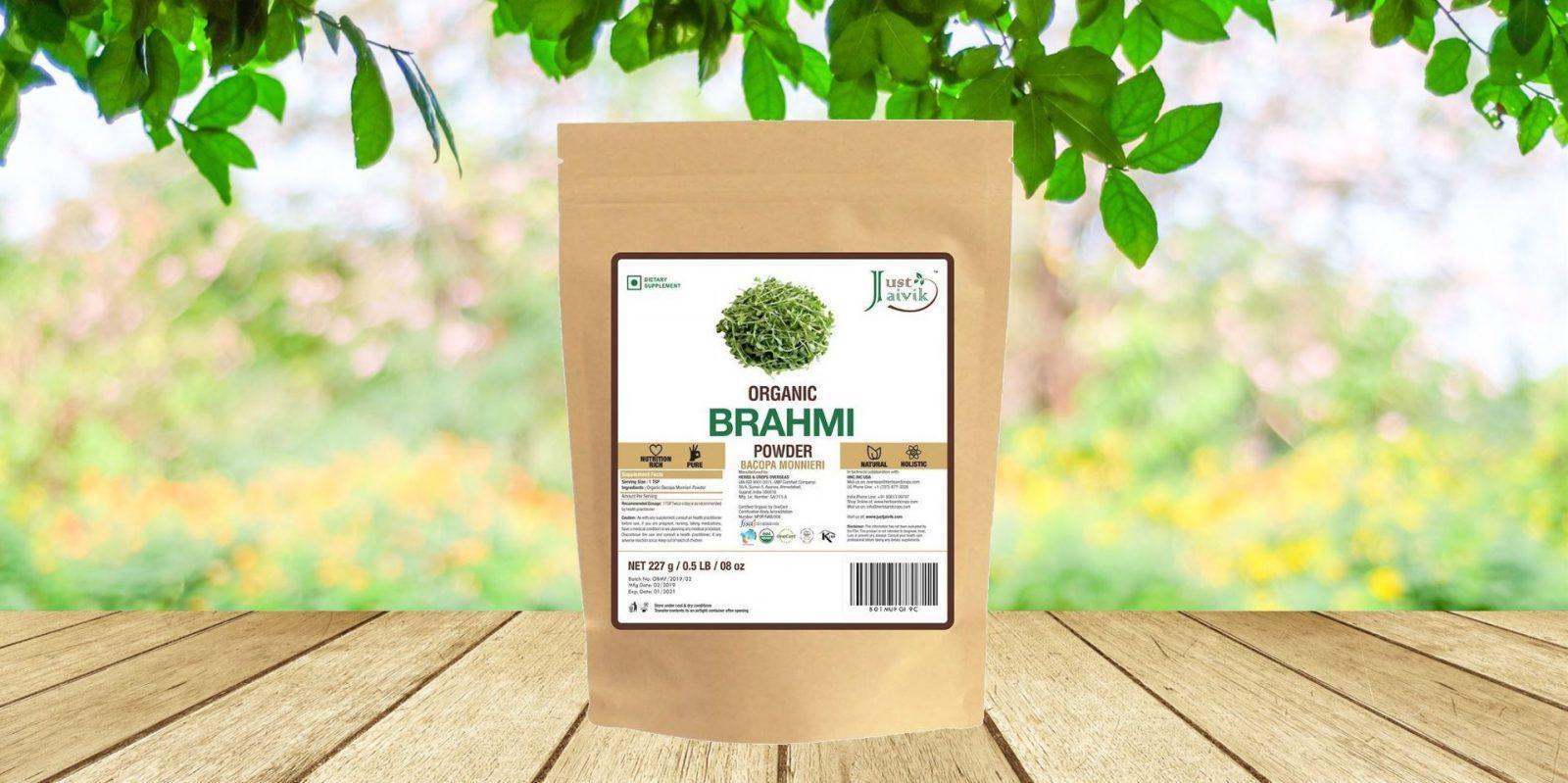 Just Jaivik 100% Organic Brahmi (Bacopa Monnieri) Powder