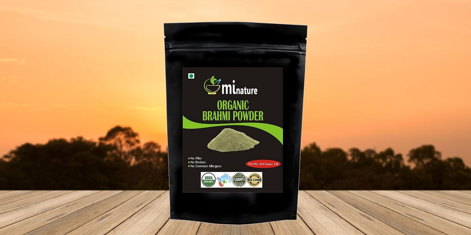 MiNature Organic Brahmi (Bacopa Monnieri) Powder