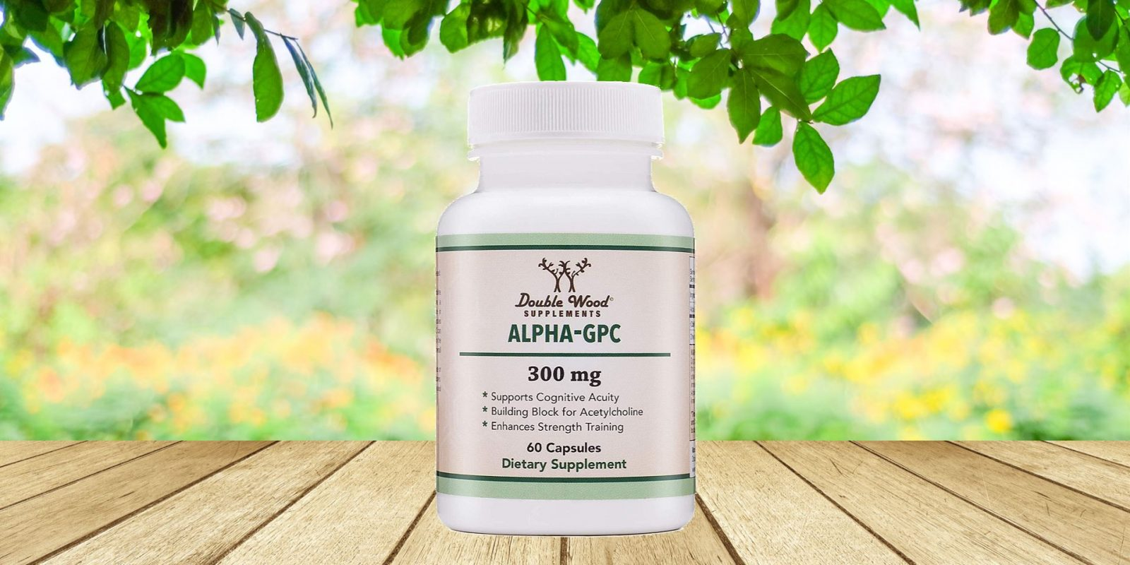 Double Wood Alpha-GPC Choline Supplement