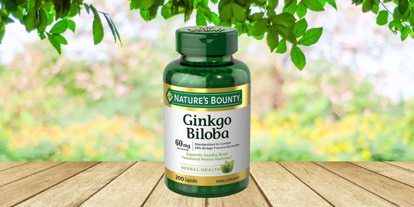 Nature's Bounty Ginkgo Biloba Plus Herbal Supplement