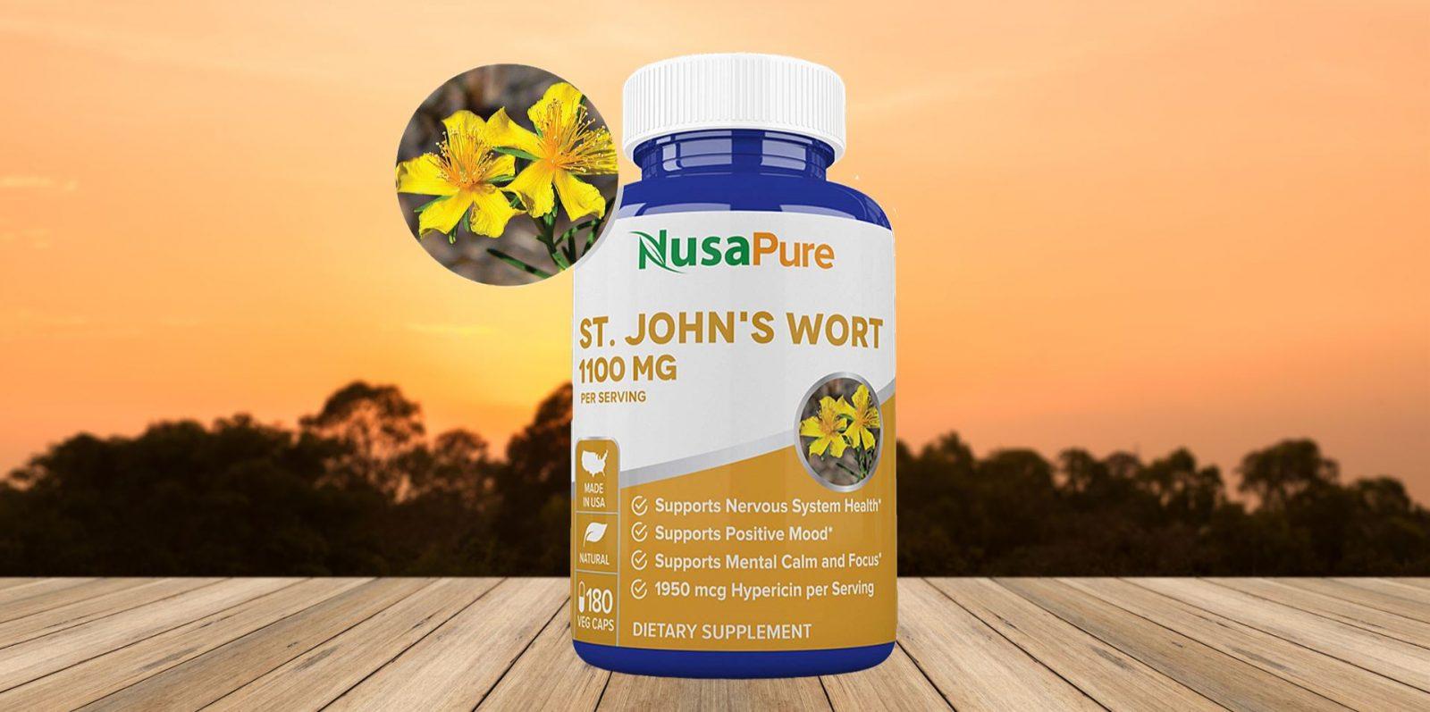 NusaPure St. John's Wort Veggie Capsules