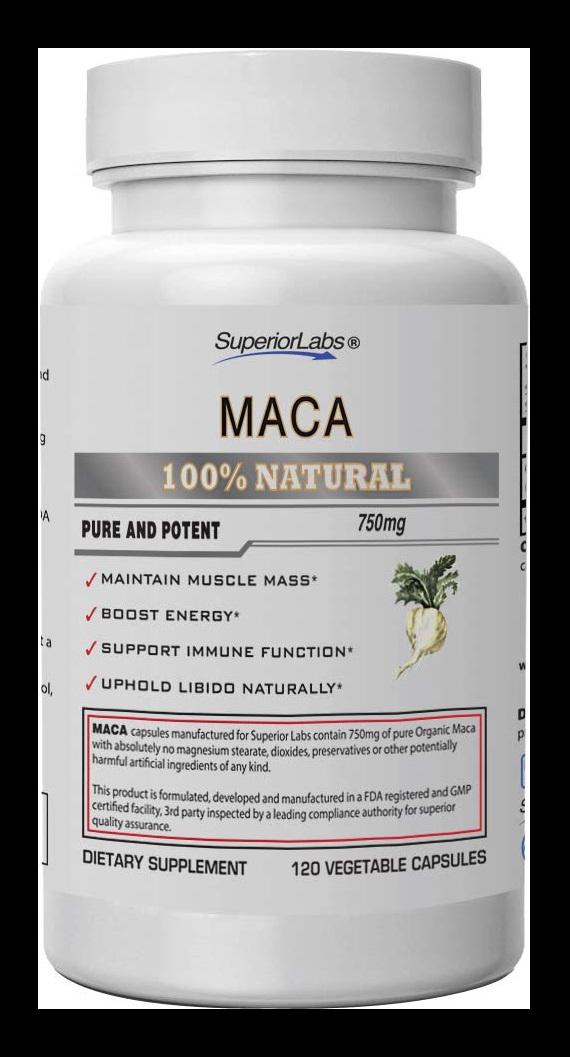 Superior Labs Organic Peruvian Maca Capsules