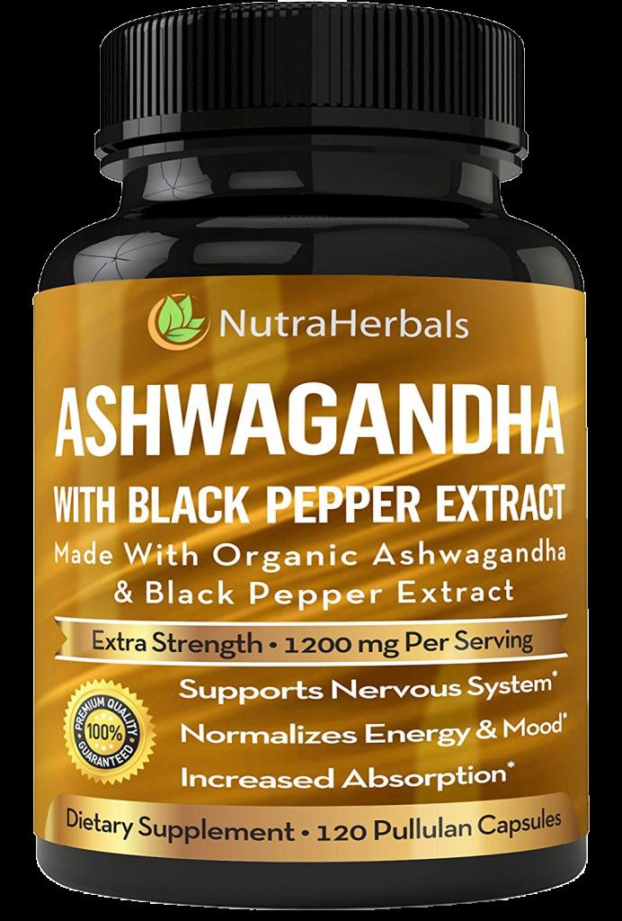 NutraHerbals Organic Ashwagandha Capsules