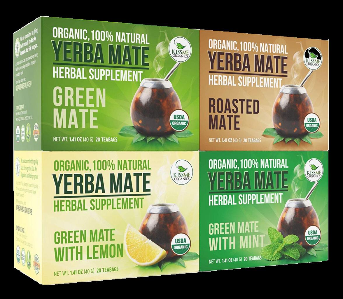 Organic Yerba Mate Tea Bags by Kiss Me Organics