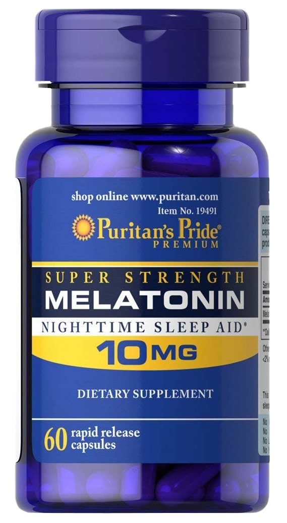 Puritan's Pride Super Strength Melatonin Capsules